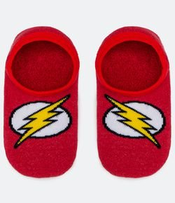 Meia Sapatilha Infantil Estampa The Flash