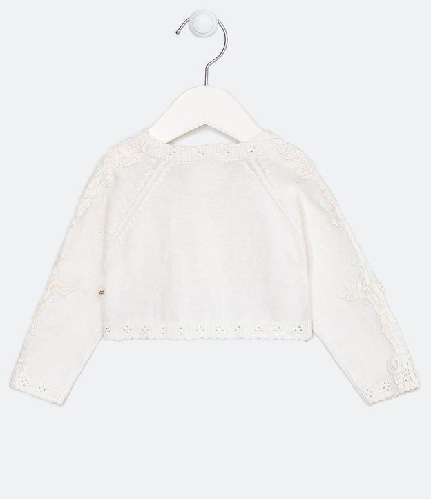 Cardigan Infantil em Renda Fit Bolerinho - Tam 0 a 18 meses | Teddy Boom (0 a 18 meses) | Branco | 0-3M