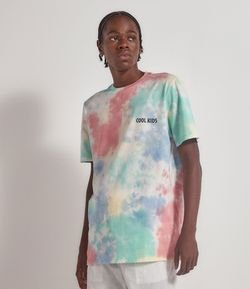 Camiseta Tie Dye com Estampa Cool Kids