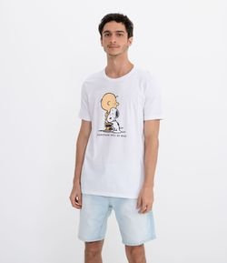 Camiseta Manga Curta Estampa Snoopy