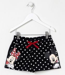 Short Infantil Estampa Minnie e Mickey - Tam 5 a 14 anos