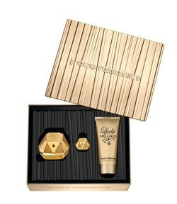 Kit Perfume Paco Rabanne Lady Million Edp + Body Lotion + Miniatura