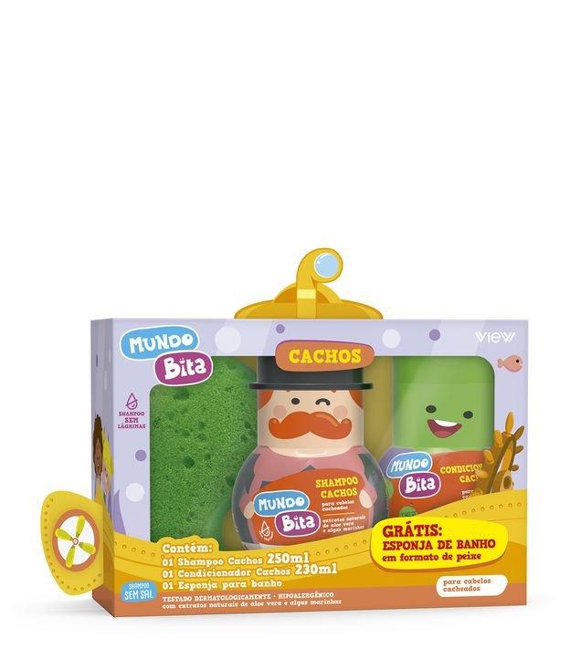 Kit Infantil Mundo Bita Cachos View com Shampoo + Condicionador + Esponja de Banho   View   KIT