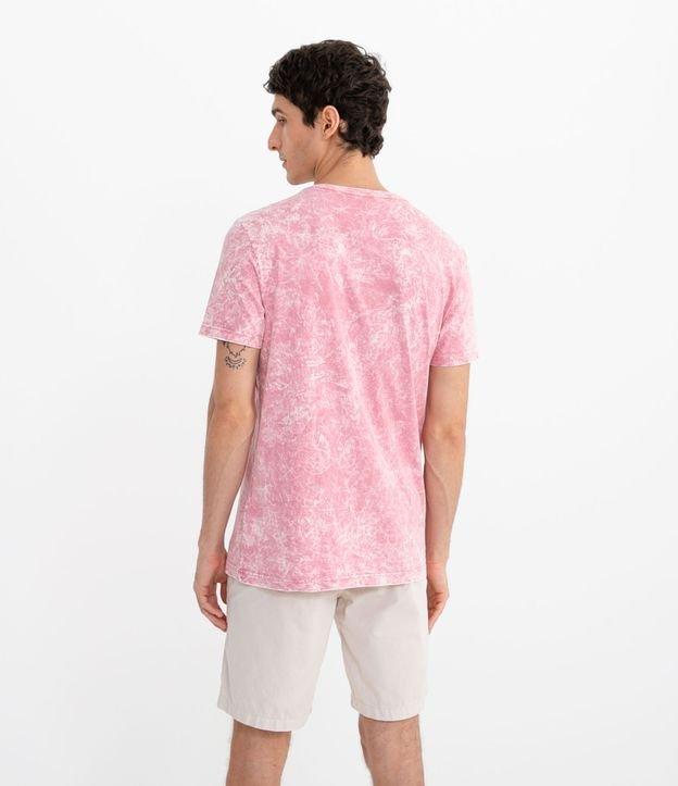 Camiseta Marmorizada com Estampa United | Blue Steel | Rosa | G