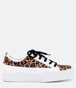 Tênis Estampa Animal Print Satinato