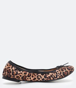 Zapatilla Estampa Animal Print con Elastico Satinato