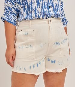 Short Mom em Sarja Tie Dye Curve & Plus Size