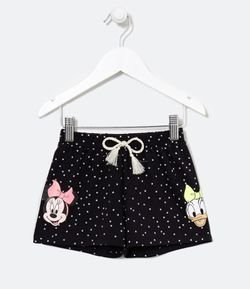 Short Infantil Estampa Minnie y Margarida - Tam 1 a 6 años