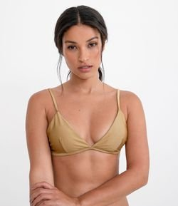 Bikini Top Triangular Lisa con Relleno Removible