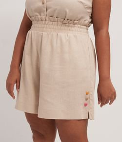 Short Clochard com Botões Coloridos Curve & Plus Size