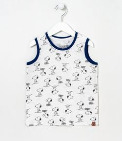Musculosa Infantil Snoopy Tam 1 a 5 años