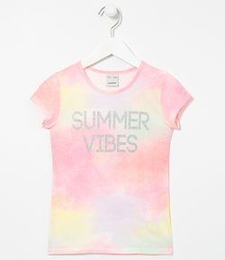 Remera Infantil Tie Dye Summer Vibes Tam 5 a 14 años