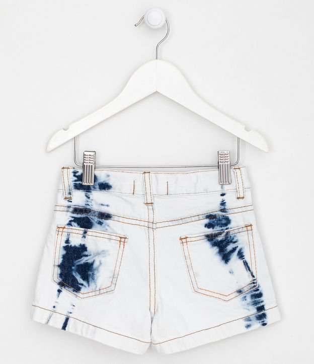Short Infantil Jeans com Detalhes em Tie Dye - Tam 5 a 14 anos | Fuzarka (5 a 14 anos) | Azul | 5-6