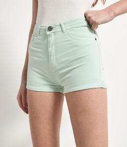 Short Hot Pants Liso con Bolsillo