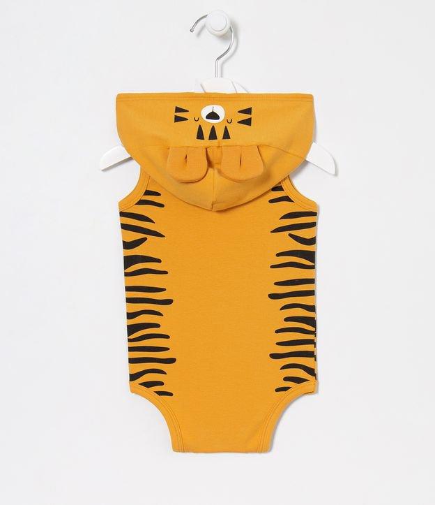 Body Infantil com Capuz Fantasia Tigre - Tam 0 a 18 meses | Teddy Boom (0 a 18 meses) | Laranja | 3-6M