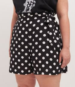 Short Clochard com Estampa Poá Curve & Plus Size