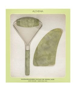 Kit de Massageadores Faciais Jade Alchemia