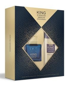 Kit Perfume Masculino Antonio Banderas King Of Seduction Absolute EDT + Desodorante