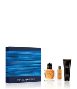 Kit Perfume Masculino Giorgio Armani Stronger With You Eau de Toilette + Miniatura + Shower Gel