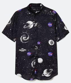 Camisa com Estampa Nasa