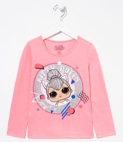 Blusa Infantil Kitty Queen LOL - Tam 4 a 14 anos