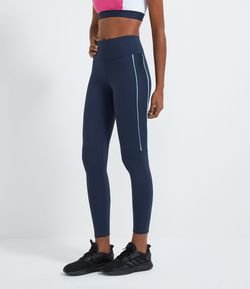Calça Legging Esportiva com Alta Compressão Estampa Start Over