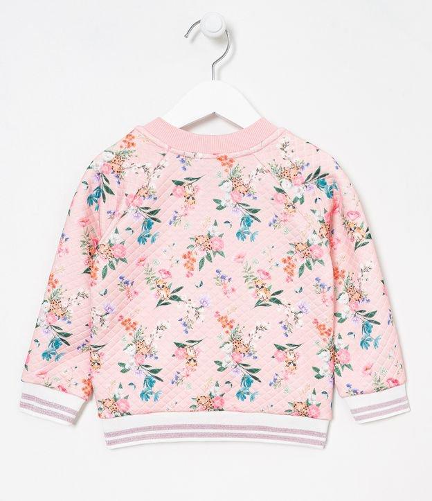 Jaqueta Infantil Bomber Floral - Tam 1 a 5 anos | Póim (1 a 5 anos) | Rosa | 02