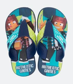 Chinelo Infantil Estampa Authentic Games - Tam 23 ao 34