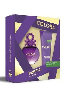 Kit Perfume Femenino Benetton Colors Purple Eau de Toilette + Body Lotion