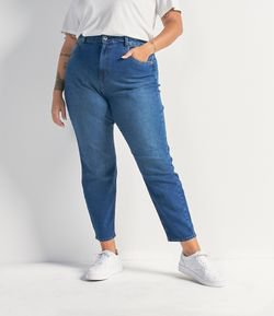 Calça Mom Jeans Sem Estampa Curve & Plus Size