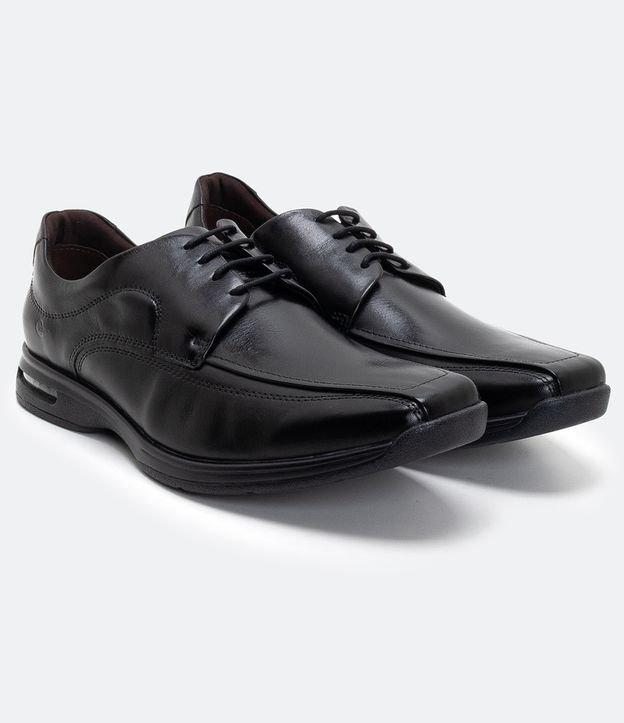 Sapato Social Democrata em Couro com Sola   Democrata   Preto   40