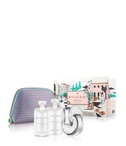 Kit Perfume Bvlgari Omnia Crystalline Eau de Toilette + Gel Douche + Body Lotion + Pouch