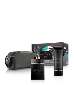 Kit Perfume Bvlgari Man In Black Eau de Parfum + After Shave Balm + Pouch