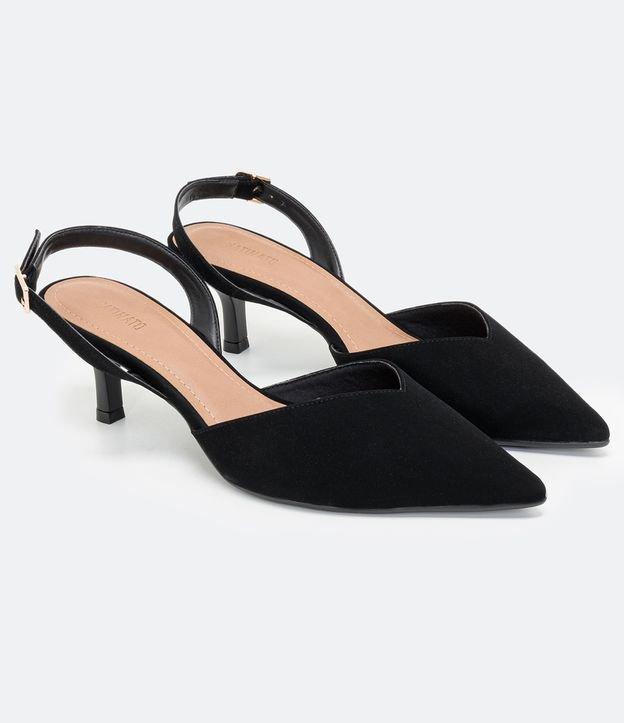 Sapato Scarpin Bico e Salto Médio Fino | Preto | 35
